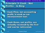 principle 3 cash not profits is king