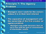 principle 7 the agency problem