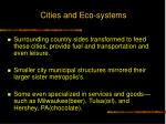 cities and eco systems