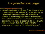 immigration restriction league