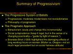 summary of progressivism