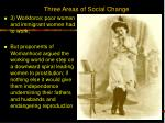 three areas of social change