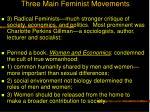 three main feminist movements28