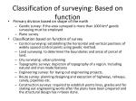 classification of surveying based on function