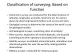 classification of surveying based on function35