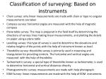 classification of surveying based on instruments