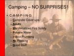 camping no surprises