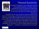thermal sensitivity