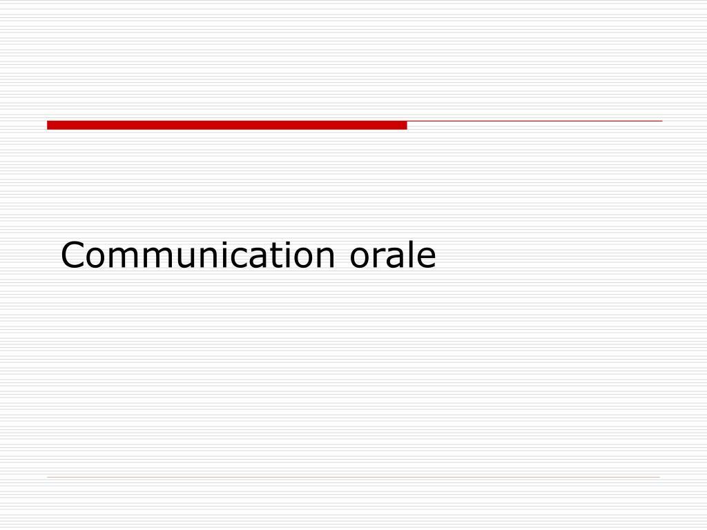 communication orale l.