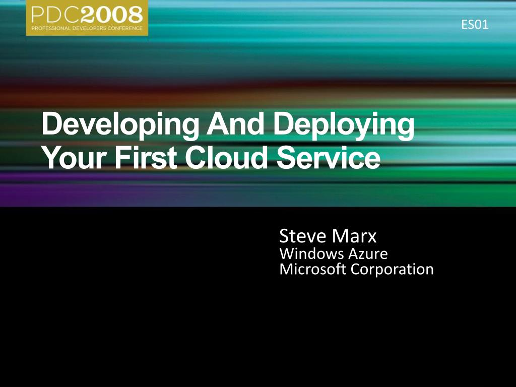 developing and deploying your first cloud service l.