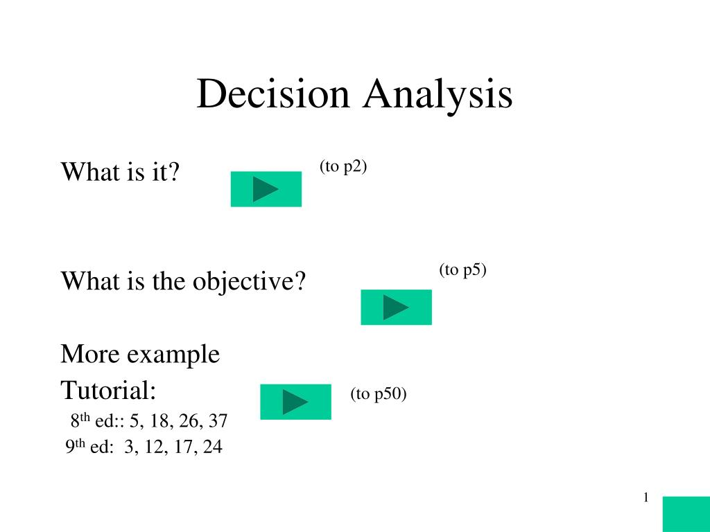 decision analysis l.