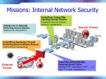 missions internal network security