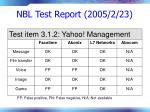 nbl test report 2005 2 2374