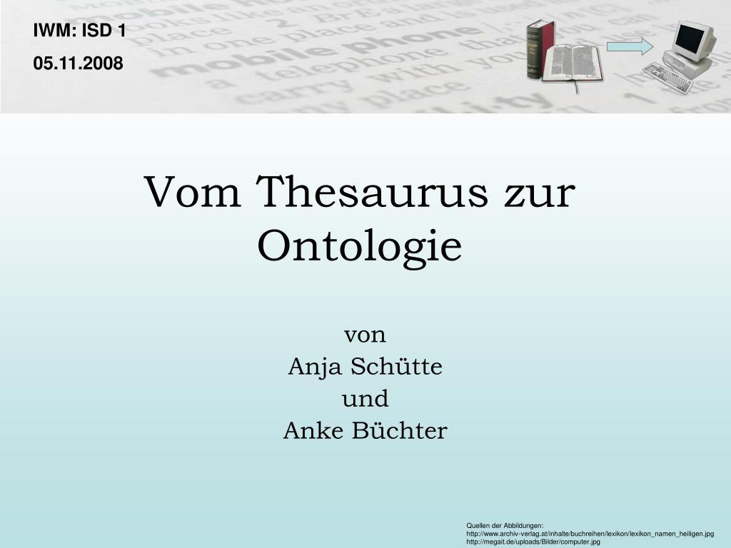vom thesaurus zur ontologie l.