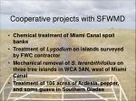 cooperative projects with sfwmd