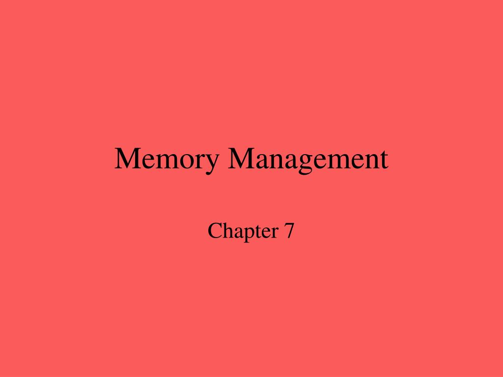 memory management l.