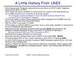 a little history first unix