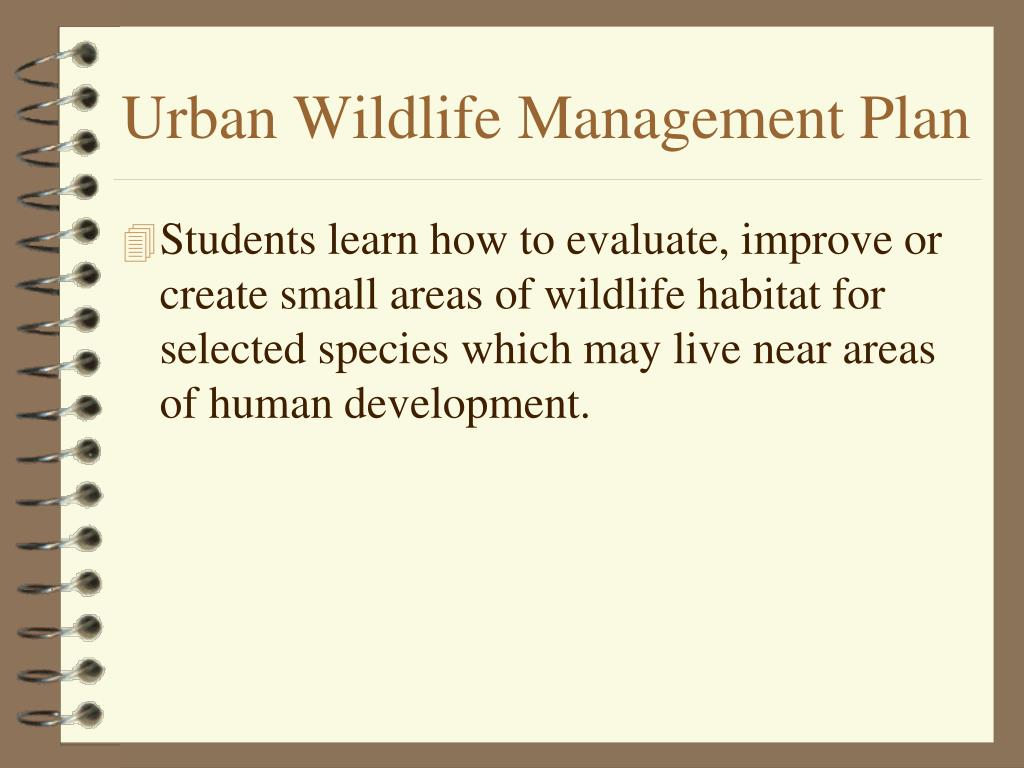 urban wildlife management plan l.