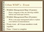 urban wmp s event