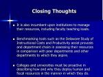 closing thoughts