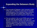 expanding the delaware study29