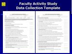 faculty activity study data collection template