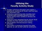 utilizing the faculty activity study