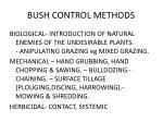 bush control methods18