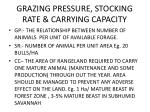 grazing pressure stocking rate carrying capacity