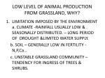 low level of animal production from grassland why
