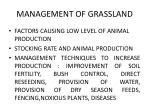 management of grassland