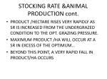 stocking rate animal production cont