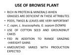use of browse plant