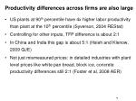 productivity differences across firms are also large