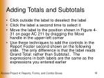 adding totals and subtotals18