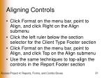aligning controls21