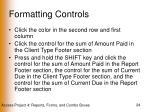 formatting controls24