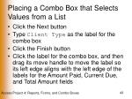 placing a combo box that selects values from a list43