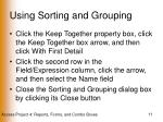 using sorting and grouping11