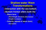 shallow water wave transformations
