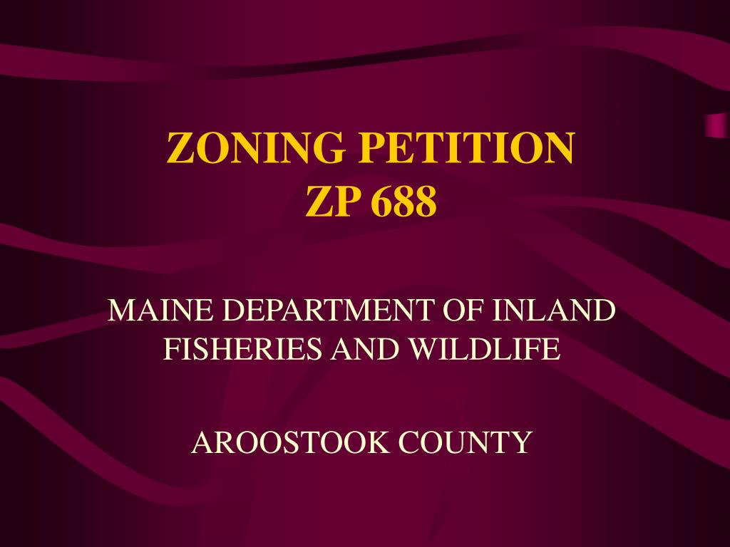 zoning petition zp 688 l.