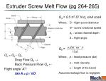 extruder screw melt flow pg 264 265