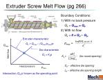 extruder screw melt flow pg 266