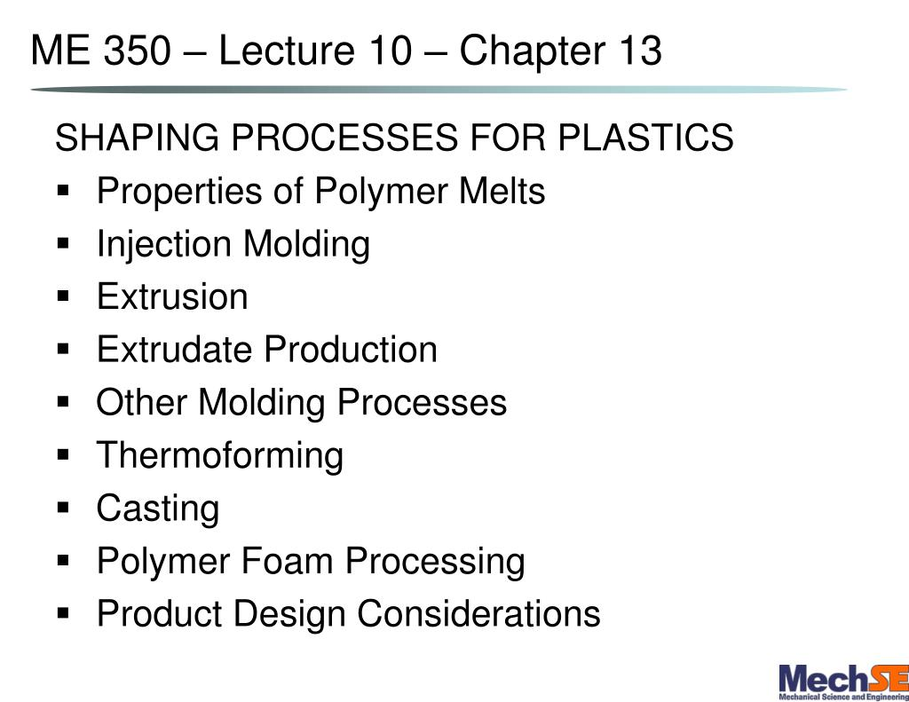 me 350 lecture 10 chapter 13 l.