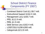 school district finance components fy 2007