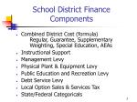 school district finance components