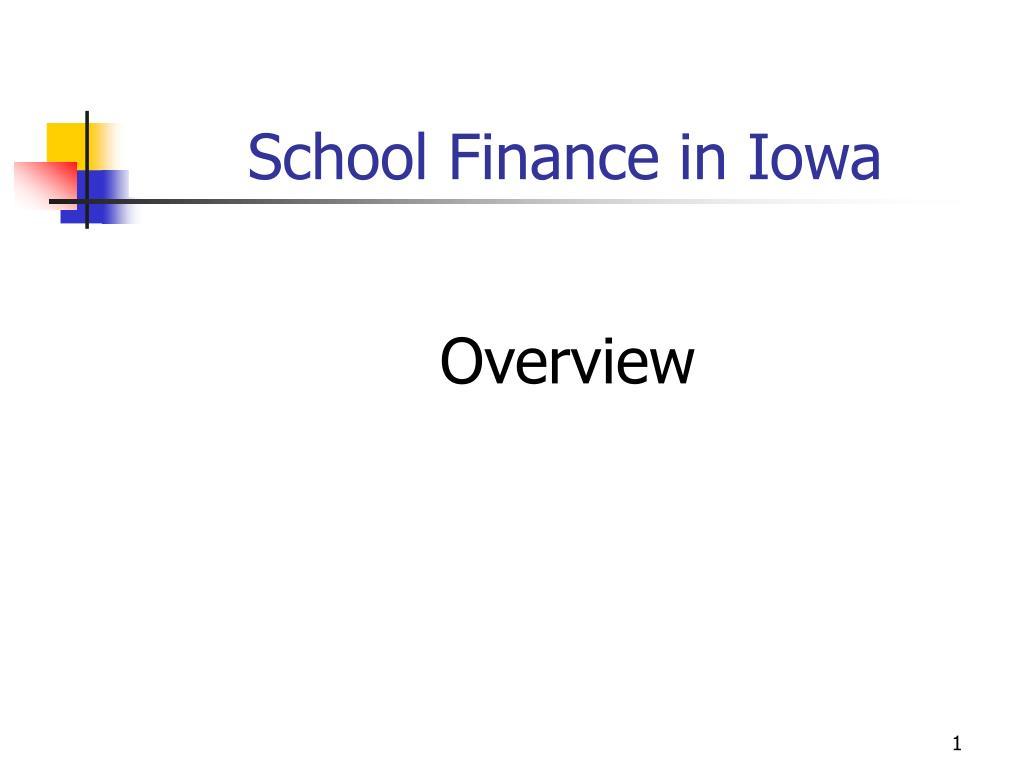 school finance in iowa l.