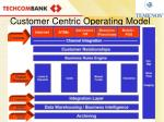 customer centric operating model