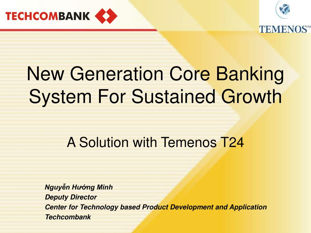 new generation core banking system for sustained growth l.