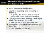 allowable miscellaneous expenses for business only34